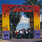 Entrance facade design for Spring Fling carnival