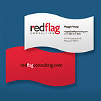 Red Flag Business Card Design