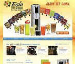 Esio Beverage Website Design