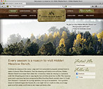 Hidden Meadow Ranch Website Design